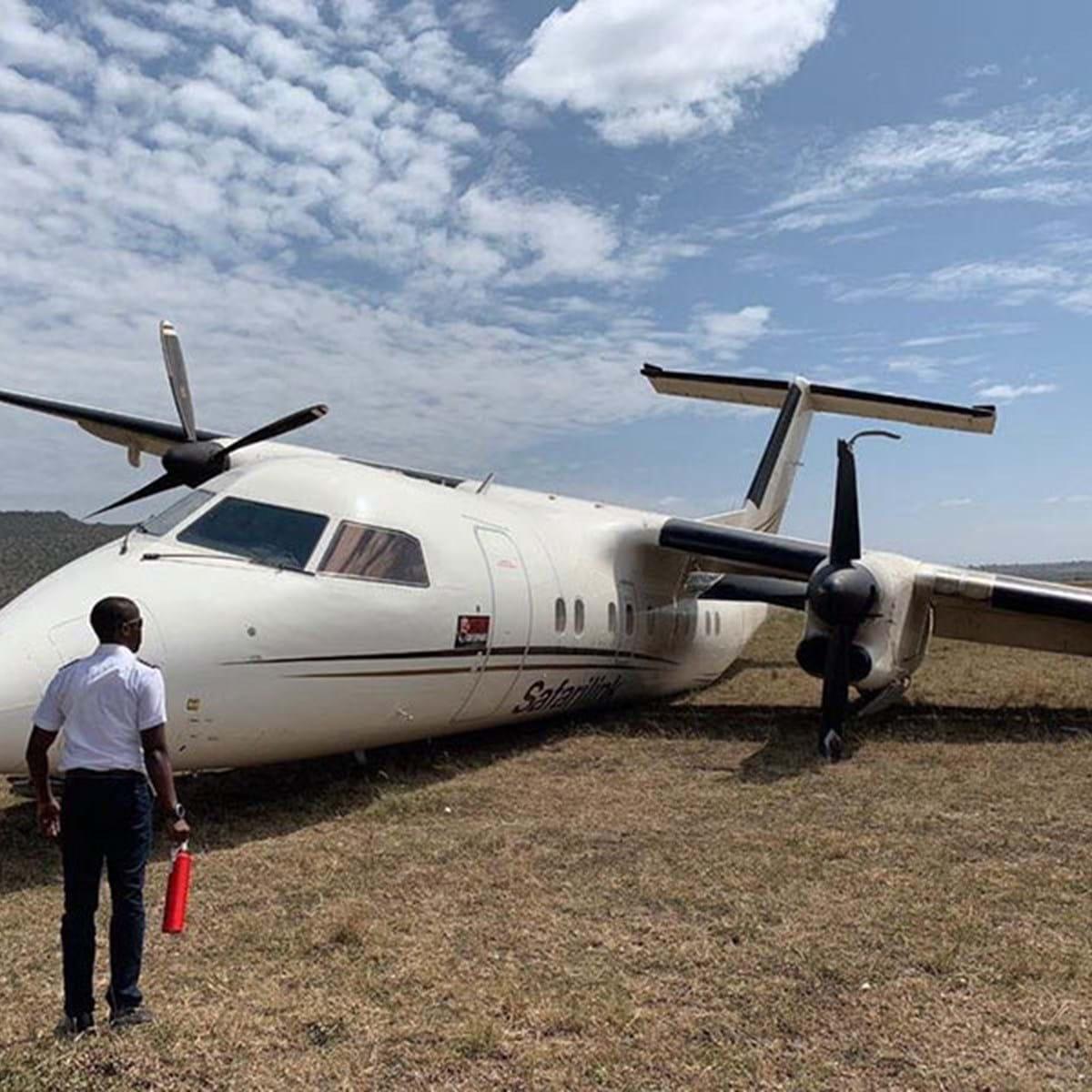 Avião safari mata dois animais selvagens durante aterragem no Quénia. Veja as imagens