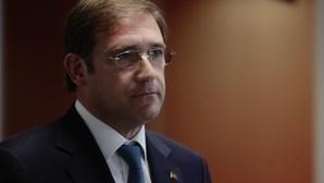 """Passos Coelho lamenta """"grande perda"""" para Portugal e destaca """"agudíssimo sentido cívico"""""""