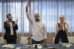 Conferência nacionalista organizada pela Nova Ordem Social de Mário Machado