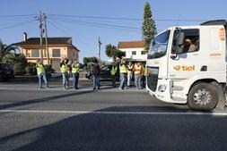 As imagens do primeiro dia de greve dos motoristas