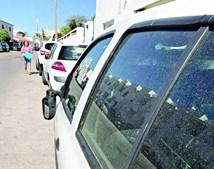 Carros vandalizados no centro de Albufeira