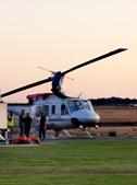 Paraquedista parte a perna ao aterrar em cima de helicóptero de combate a incêndios em Évora