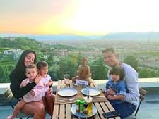 Georgina, Cristiano e os filhos