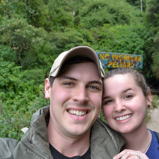 Mary Staud e o marido
