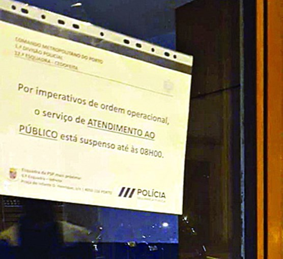 PSP de Cedofeita, no centro do Porto, esteve encerrada durante a madrugada na terça-feira
