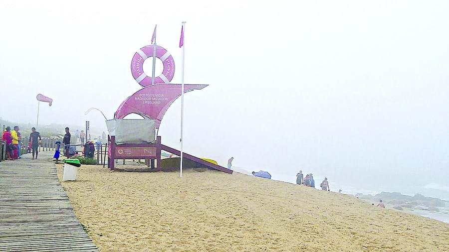 Salvamento ocorreu na praia de Canide, em Canidelo