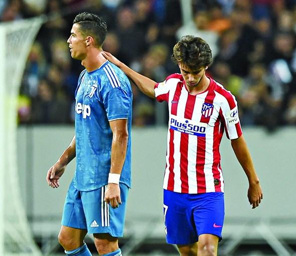 Cristiano Ronaldo e João Félix já se defrontaram este ano