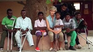 Princesa Diana mudou a vida de Justina: a mulher que perdeu a perna quando se cruzou com uma mina