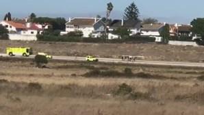 Avioneta sofre acidente ao aterrar no aeródromo de Tires
