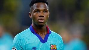 Ansu Fati de regresso aos convocados do FC Barcelona