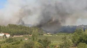 Incêndio em Alcobaça ameaça casas