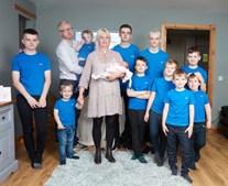 Alexis Brett com a família