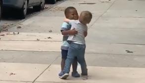 Vídeo do reencontro de melhores amigos de apenas dois anos emociona internet