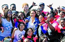 Meghan Markle tem visitado várias comunidades e associações na sua visita pela África do Sul