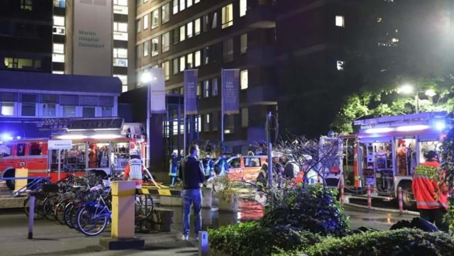 Incêndio num hospital na Alemanha