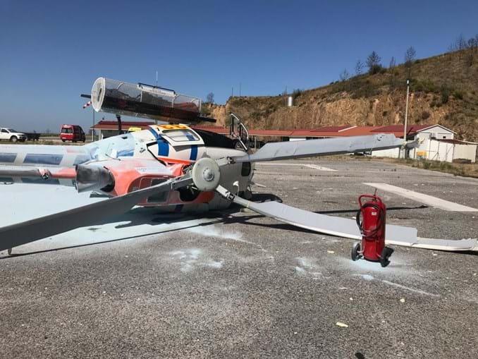 Helicóptero que caiu na Pampilhosa da Serra