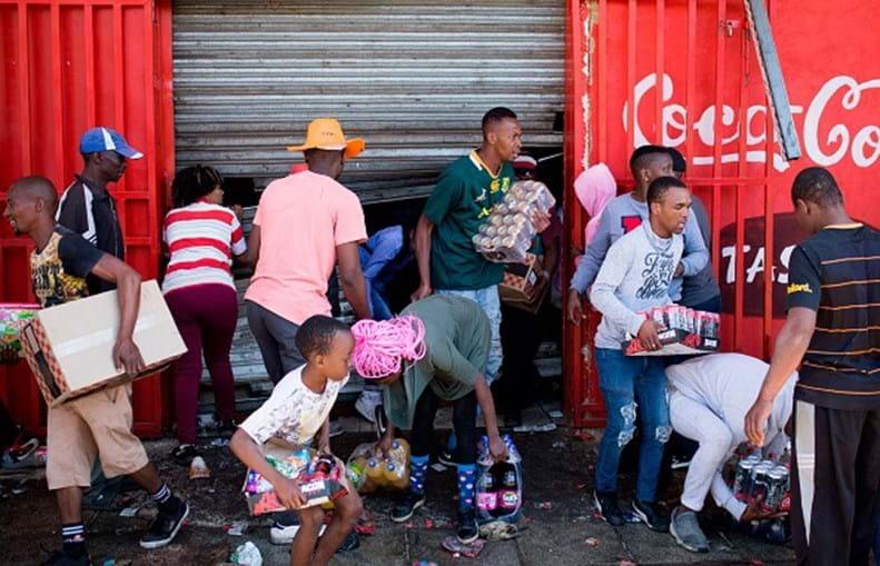 Violência em Joanesburgo, África do Sul