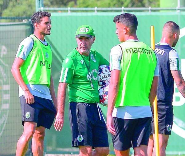 Leonel Pontes durante treino do Sporting