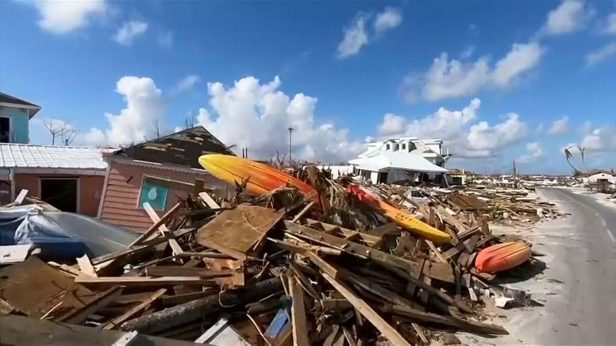 As imagens da destruição nas Bahamas dez dias após a passagem do furacão Dorian