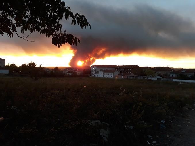Fogo em Miranda do Corvo combatido por quase 500 bombeiros