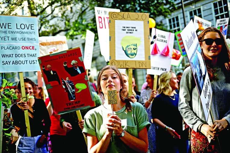 Manifestantes exigiram ação