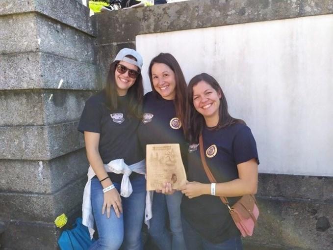 Susana Martins, Joana Barros e Cristina Martins. Equipa conquistou o primeiro lugar
