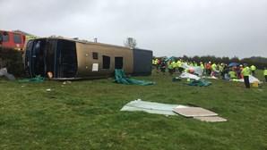 Despiste de autocarro faz 37 feridos no Reino Unido