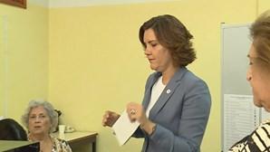 Assunção Cristas votou em Miraflores