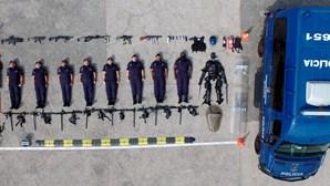 Unidade Especial de Polícia da PSP adere ao desafio viral #tetrischallenge. Veja as imagens
