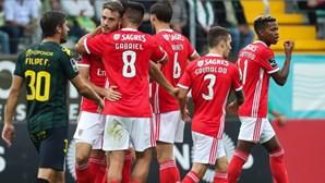 Benfica vence o Tondela por uma bola e assume a liderança provisória do campeonato