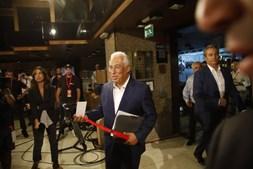 António Costa à chegada do Hotel Altis