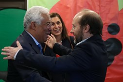 António Costa, primeiro-ministro, e Rui Tavares, líder do Livre