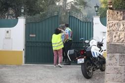 Casas a serem evacuadas em Venda Seca, Sintra