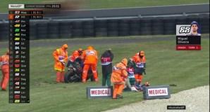 Vento forte atira Miguel Oliveira ao chão e adia qualificação de MotoGP para domingo