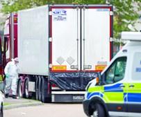 'Camião do horror' foi largado num parque industrial em Grays, no Reino Unido