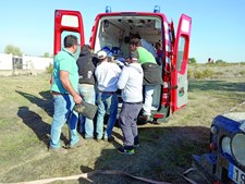 Homem de 62 foi helitransportado para Lisboa em estado muito grave