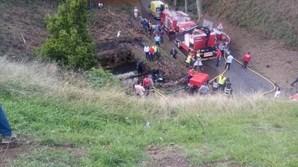 Três mortos em despiste seguido de queda em reservatório de água na Ribeira Grande