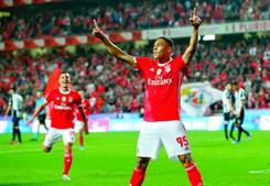 Vinícius é o segundo melhor marcador das águias (4 golos) na Liga, atrás de Pizzi (6)
