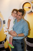 Ator Vítor Emanuel com a filha