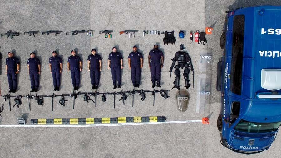 Unidade Especial de Polícia da PSP adere ao desafio viral #tetrischallenge
