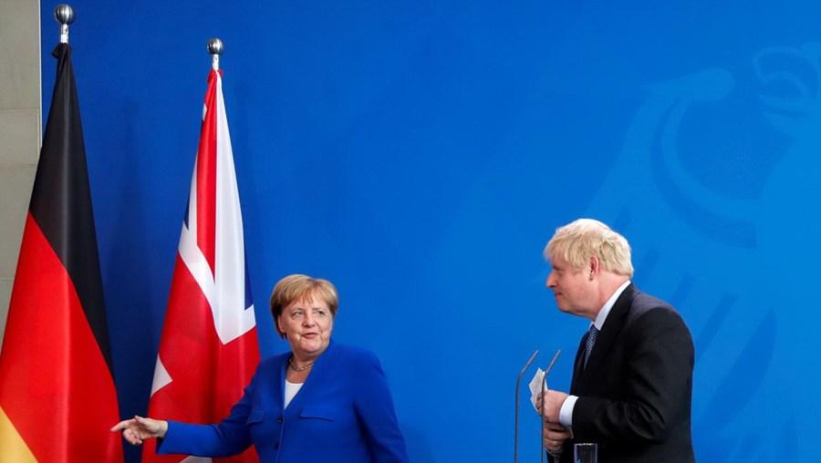 Angela Merkel Boris Johnson