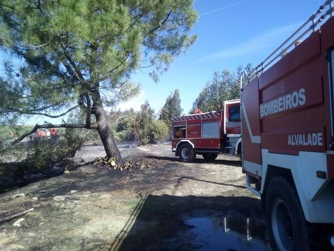 Incêndio consome área de mato e pasto em Sines