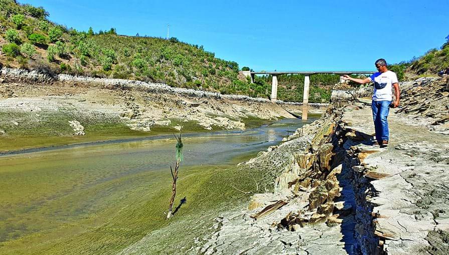 Graves prejuízos devido à falta de água no rio Tejo