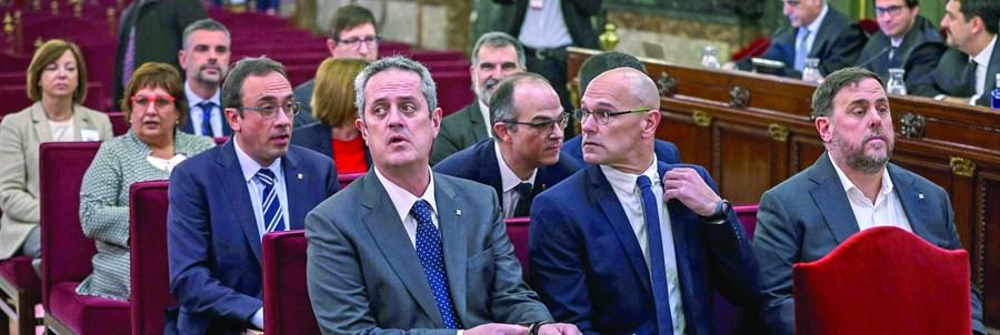 Doze separatistas condenados na Catalunha