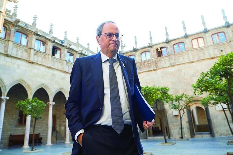 Torra fez uma reunião de emergência do governo autónomo da Catalunha para decidir qual será a resposta institucional à condenação dos líderes separatistas