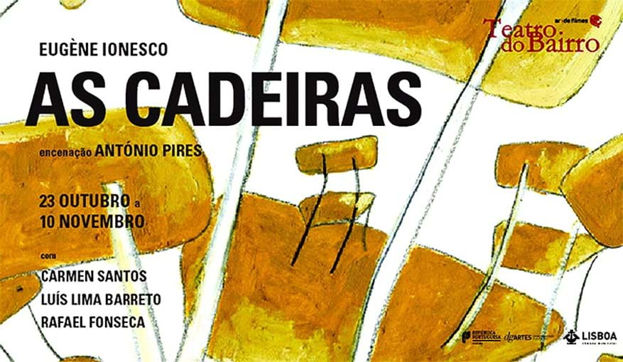 'As Cadeiras' em exibição no Teatro Municipal Joaquim Benite, em Almada