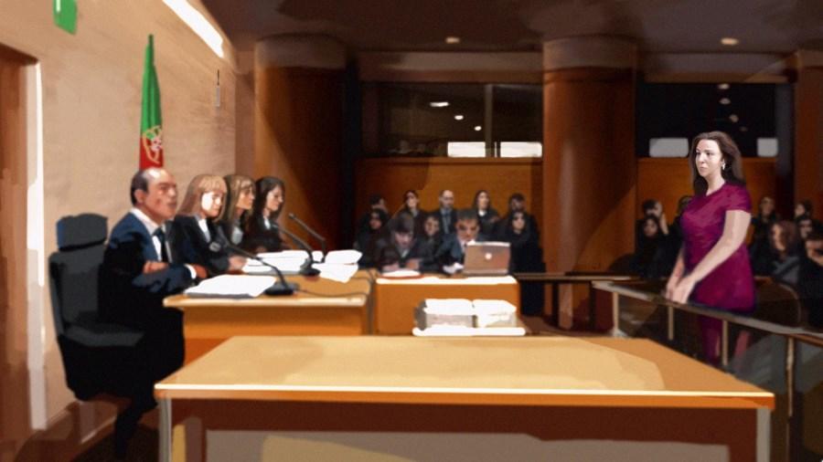 Rosa Grilo na sétima sessão do julgamento