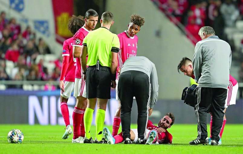 Rafa lesionou-se no decorrer do jogo com o Lyon, para a Liga dos Campeões, na quarta-feira passada