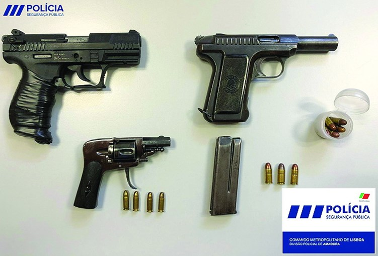Pistola apreendida pela PSP
