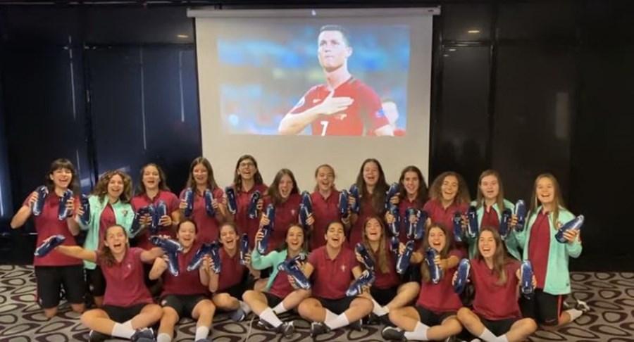 Cristiano Ronaldo surpreendeu a Seleção Feminina sub-17